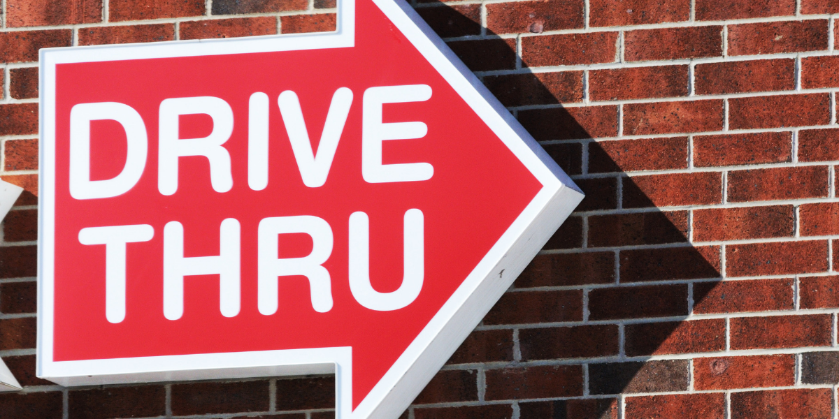 Using a mobile phone to pay at a drive thru is now legal in NSW