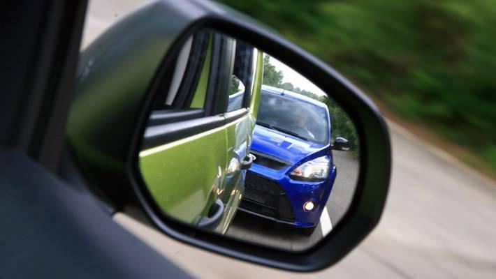 tailgating vehicle